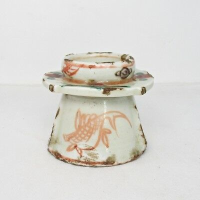 B546: Chinese cup stand of old porcelain ware of traditional GOSU AKAE style