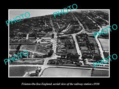 OLD LARGE HISTORIC PHOTO OF FRINTON ON SEA ENGLAND, THE RAILWAY STATION c1930