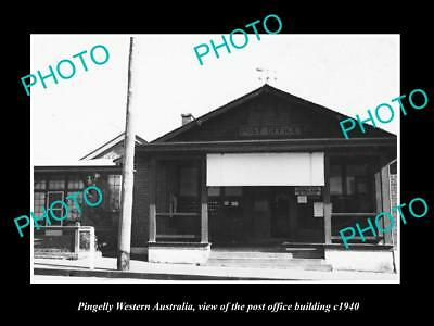 OLD LARGE HISTORIC PHOTO OF PINGELLY WESTERN AUSTRALIA, THE POST OFFICE c1940