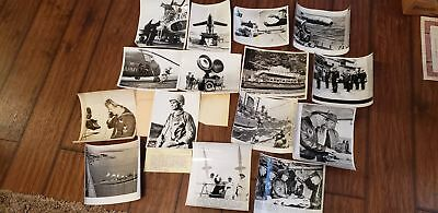 15 OLD PHOTOS-B & W-US MILITARY-1940s-1950s-ARMY-NAVY-AIRFORCE-WW2?IS WIRE PHOTO