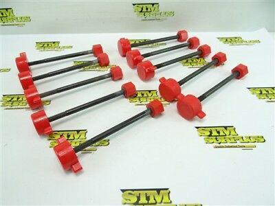 """10Pc Lot Of Soft Jaw Work Holding Clamp Screws W/ Nuts Evergreen 3/8""""-16 X 6"""""""