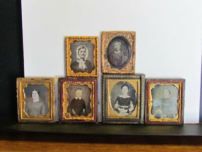 collection of daguerreotype photographs