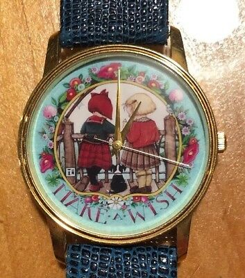 """Mary Engelbreit """"Make A Wish"""" Watch - Leather Band."""