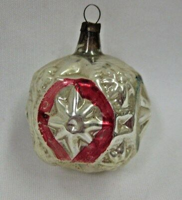 Antique Vintage 1900's German Feather Tree Mercury Glass Fancy Star Ornament