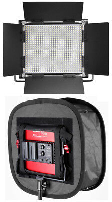 Neewer 2 Packs Bi-color Dimmable 660 LED Video Light + MATCHED SOFTBOX DIFFUSERS