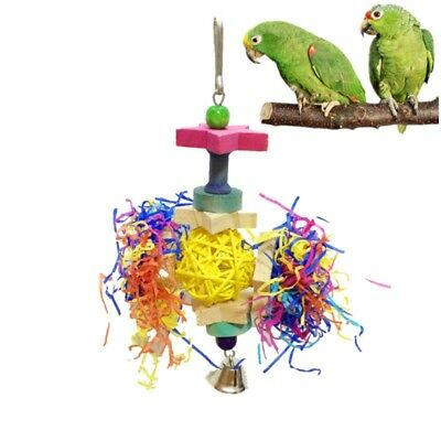 Parrot Pet Rope with Bell Swing Bird Cage Perch Budgie Cockatiel Stand Chew Toy