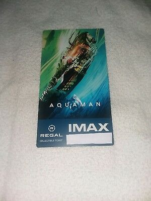 AQUAMAN Regal IMAX Collectible Ticket - Free Mini Poster Code 2nd Week