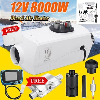 8000W LCD Air Diesel Heater 8KW 12V PLANAR For Trucks Motor-homes Boats Bus NP#W