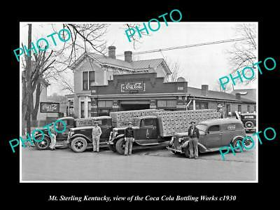 OLD LARGE HISTORIC PHOTO OF MT STERLING KENTUCKY, THE COCA COLA PLANT c1930