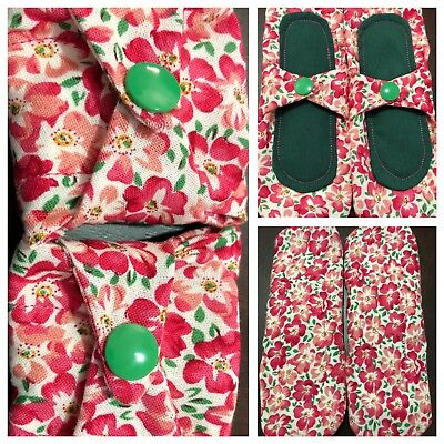 2 Cloth Panty Liners Lightly Padded Cotton Fabric Reusable Protection Products