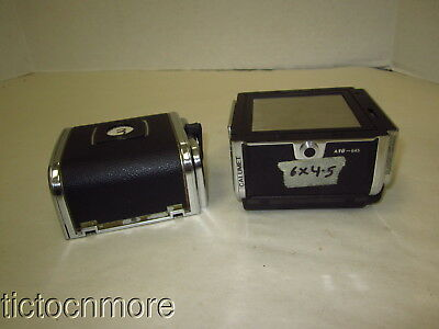 Vintage Hasselblad Camera A16  & A12 6X6 Film Magazines Lot Sweden