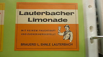 Old German Soft Drink Cordial Label, Ehnle Brewery Lauterbach, Orange