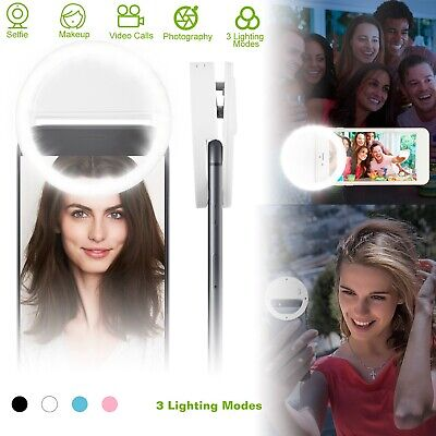 Portable Selfie Ring Fill Light 36 LEDs Clip Camera for iPhone XR Android Phone