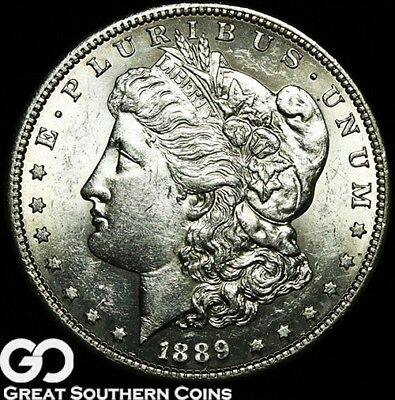 1889-S Morgan Silver Dollar Silver Coin, BU++ Better Date San Francisco Issue!