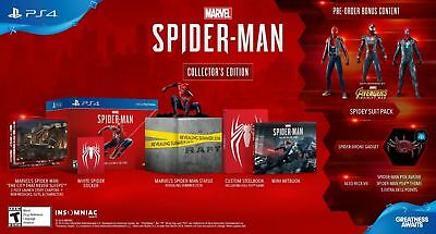 PS4 Marvel Spider-Man Collector's Edition NEW Spiderman Game NO CONSOLE