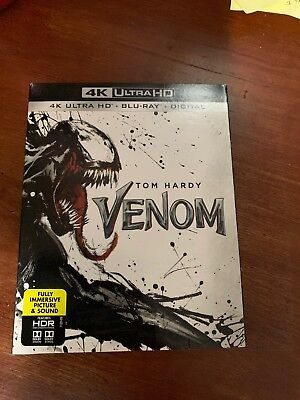 VENOM(4K ULTRA HD+BLU-RAY+DIGITAL)W/SLIPCOVER NEW - Brand New Unopened