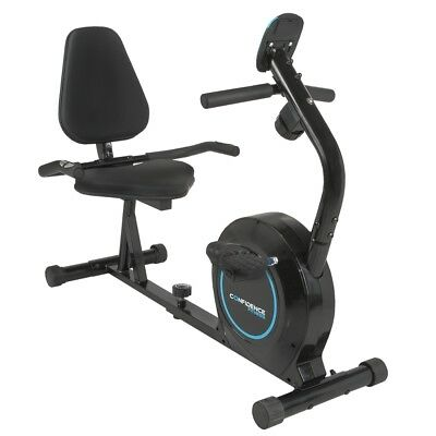 Confidence Fitness Magnetic Recumbent Exercise Bike with Adjustable Resistance