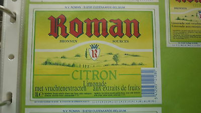 Old Belgian Soft Drink Cordial Label, Roman Brewery, Citron 1