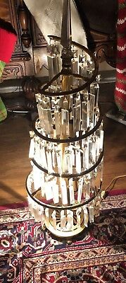 """antique chandelier table lamp Extremely Rare 30"""""""