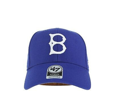 240f16b08d3 47 Brand Brooklyn Dodgers MVP Structured Dad Hat Cap Core Royal Blue  Cooperstown