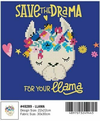 Diamond Dotz Diamond Art, LLAMA, 5D Embroidery Facet Art Kit, 22 x 22cm