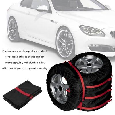 4PCS Spare Tire Cover Durable Vehicle Wheel Protecting Car Tires Storage BagPG#W