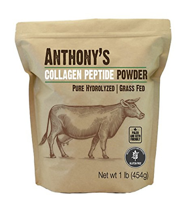 Anthonys Collagen Peptide Powder 1lb, Pure Hydrolyzed, Gluten Free, Keto and