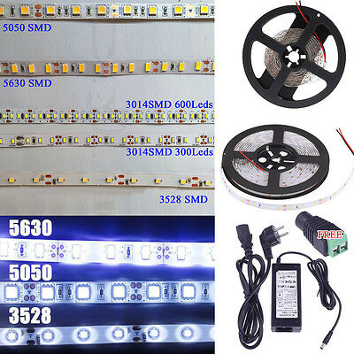 5630 5050 3528 3014 2835 SMD 5M 300 600 LEDS Flexible Led Strip Light Waterproof