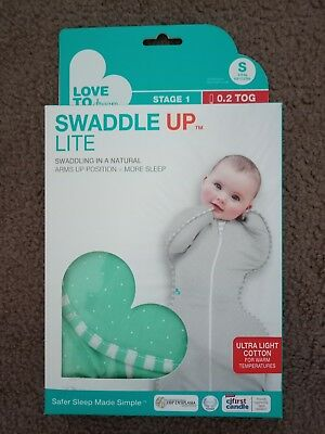 NEW Love To Dream Swaddle Up Summer Lite Small