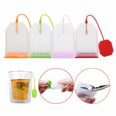 Reusable Silicone Bag Loose Tea Bag Holder Infuser Filter Perforated Strainer*1