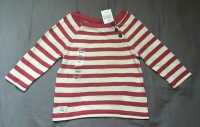 Toddler Girl Size 4/4T Ralph Lauren Red & White Striped 3/4 Sleeve Top