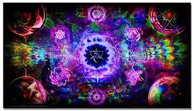 Psychedelic Trippy Abstract Silk Art Poster Prints Wall Painting 33x60cm