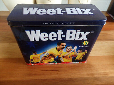"""Collectable Weet-Bix tin .  """" Socceroos , World Cup South Africa 2010 """"."""