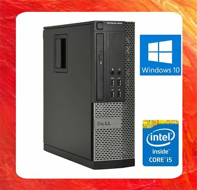 DELL FAST OPTIPLEX 9010 INTEL CORE i5 - 3570 @ 3.4GHZ 4GB 120GB SSD DVDRW WIN 10