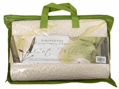Kids Bamboo Contour Anti Allergy Memory Foam Toddler Baby Cot Bed Pillow 1/2/3/4