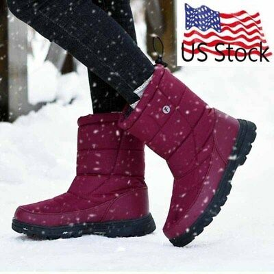 Waterproof Snow Boots Men Women's Middle Tube Shoes Anti-Skid Outdoor Work Flats
