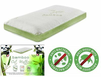 Kids Toddlers Bamboo Cot Soft Mattress Breathable Anti Allergy Anti Dust Mite