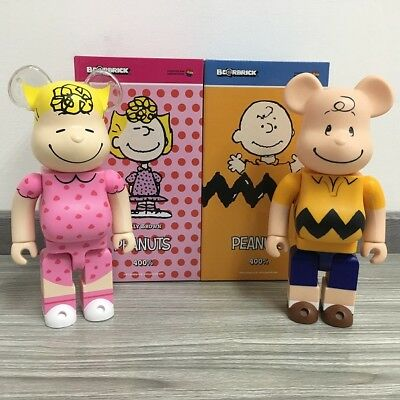 Medicom Bearbrick BE@RBRICK 400% 28cm CHARLIE& SALLY Pair Brown Doll Toy