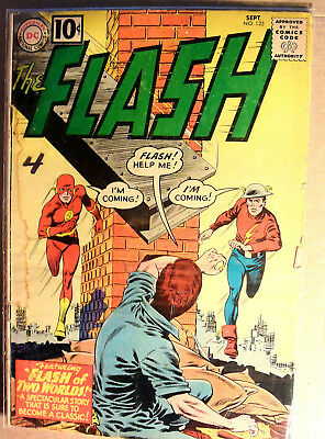 The Flash 123 comic: Silver Age Classic in need of a loving home