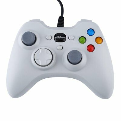 White Fashion Wired Gamepad USB Port Controller Joystick For PC Gaming UWR