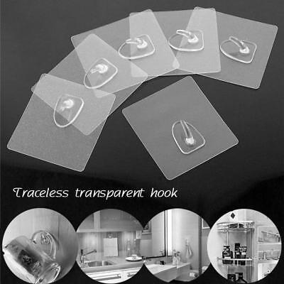 Anti-skid Hooks Reusable Strong Sticky Traceless Transparent Kitchen Wall Hook
