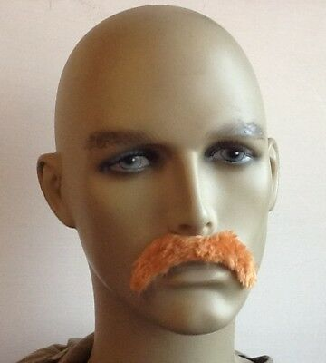 Blonde Droop Style Self Adhesive Fancy Dress Moustache> Uk Next Day Dispatch