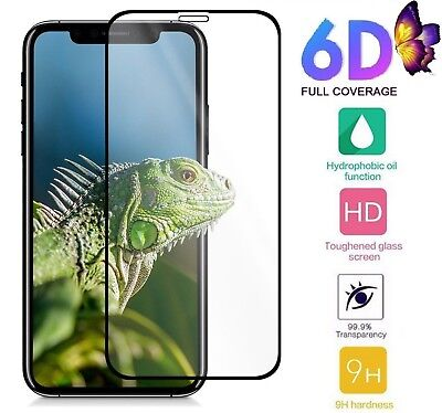 Premium 6D Curved Tempered Glass Screen Protector Guard For iPhone 7 8 XS XR MAX