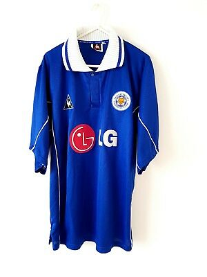 Leicester City Home Shirt 2001. Large. Le Coq Sportif Blue Adults Football Top L