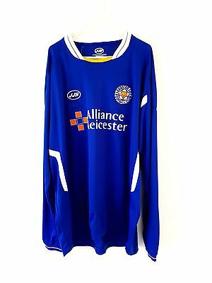 Leicester City Home Shirt 2005. XL. Blue Adults Long Sleeves Football Top Only.