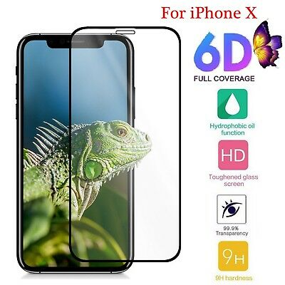Premium 6D Curved Tampered Glass Screen Protector Guard For iPhone XS Max XR XS