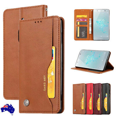 For Sony Xperia XZ2 Compact Premium XZ4 XZ3 Magnetic Leather Wallet Case Cover