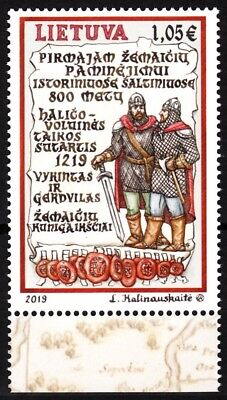 LITHUANIA 2019-03 Samogitians - 800. History Military Uniforms, MNH