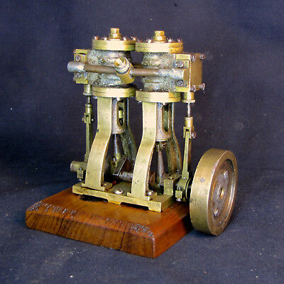Live Model Steam Engine Vertical Twin Cylinder Toy Marine Mamod Wilesco Stuart