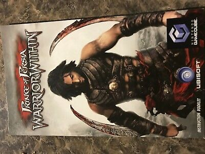 Prince Of Persia Warrior Within - Nintendo Gamecube - Instruction Manual Only